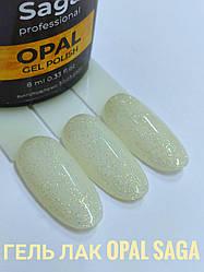 Гель лак Saga gel polish FLASH ОПАЛ 8мл - Гель-лак для нігтів з дрібним шиммером Saga Flash