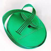 50 мм 50 м на 2 т зелена капроновая буксировочная лента для стяжных ремней / тісьма буксирувальна