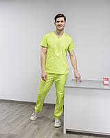 Медичний чоловічий костюм Мілан лайм, фото 1