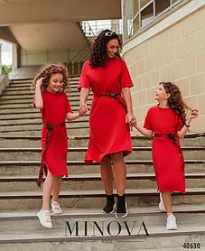 Платье трендовое девочке, размер от 110 до 164