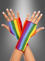 Красочные перчатки  в стиле радуги