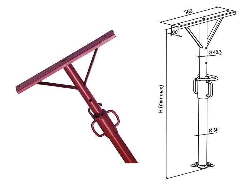 Стойка монтажная легкая, для опалубки перекрытий 3,6 м. Италия