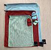 Эко мешочки, многоразовые мешки для продуктов, сетчатые сумки для овощей и фруктов,  набор 6 штук, фото 2