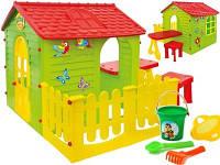 Детский игровой домик Mochtoys столик, табурет, тераса 11541