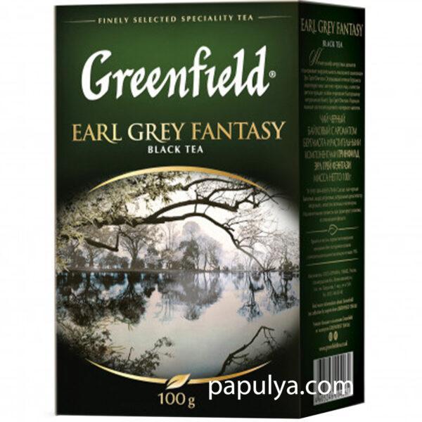 Чай черный листовой Greenfield гринфилд Earl Grey Fantasy 100 г