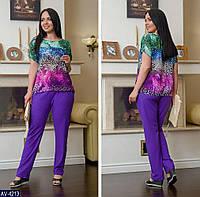Женский летний костюм батальный.Женский летний спортивный костюм, фото 1
