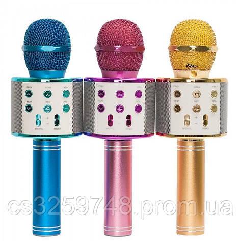 Беспроводной микрофон-караоке WSTER WS-858. Микс цветов, фото 2