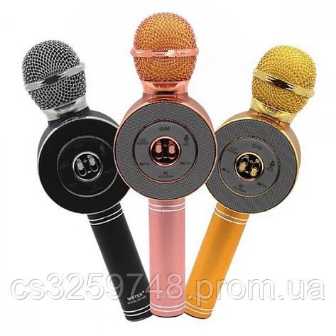 Микрофон-колонка bluetooth WS-668. Микс цветов, фото 2