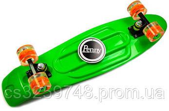 "Penny Board Nickel 27"".Green. Светящиеся колеса, фото 3"