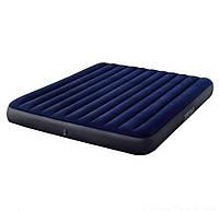 Двухместный надувной матрас INTEX 183x203x25 см, двухспальный большой надувний матрац ИНТЕКС