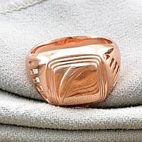 Печатка мужская Xuping. Золото розовое (покрытие) 585 пробы. 24 размер, фото 1