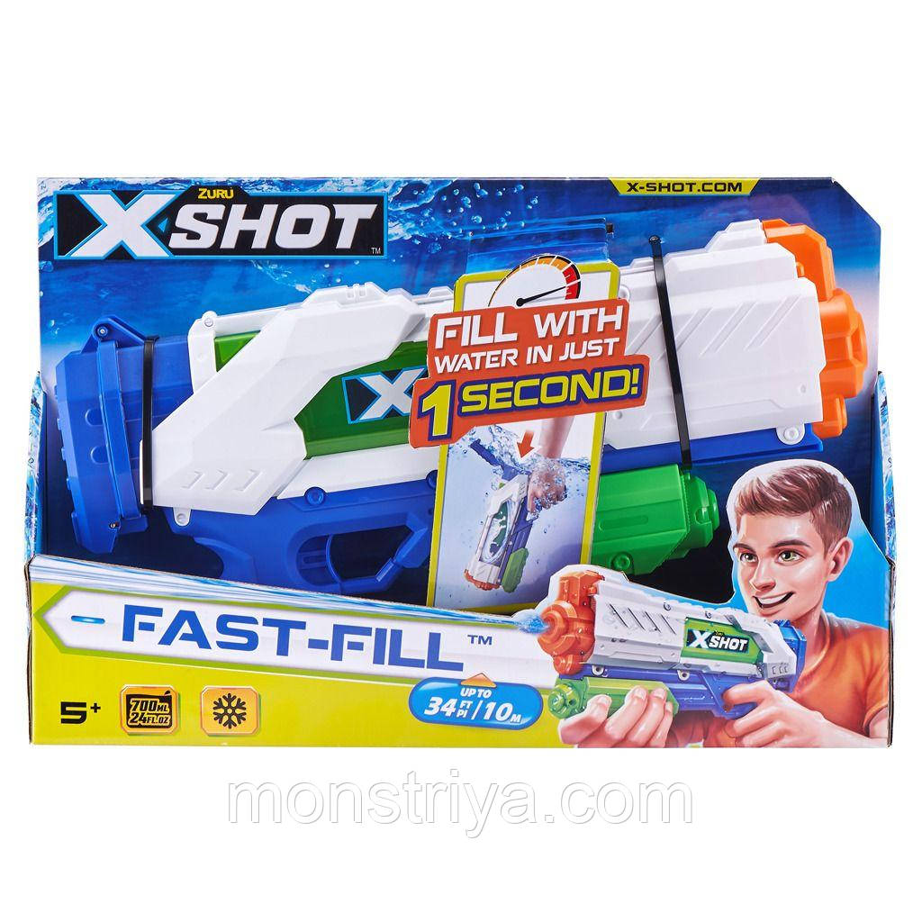 Водяний бластер-пістолет Zuru X-Shot Water Warfare Fast Fill Water Blaster