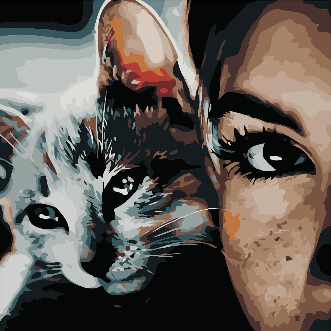 Картина по номерам Кошачий погляд, 40x40 см., Art Story