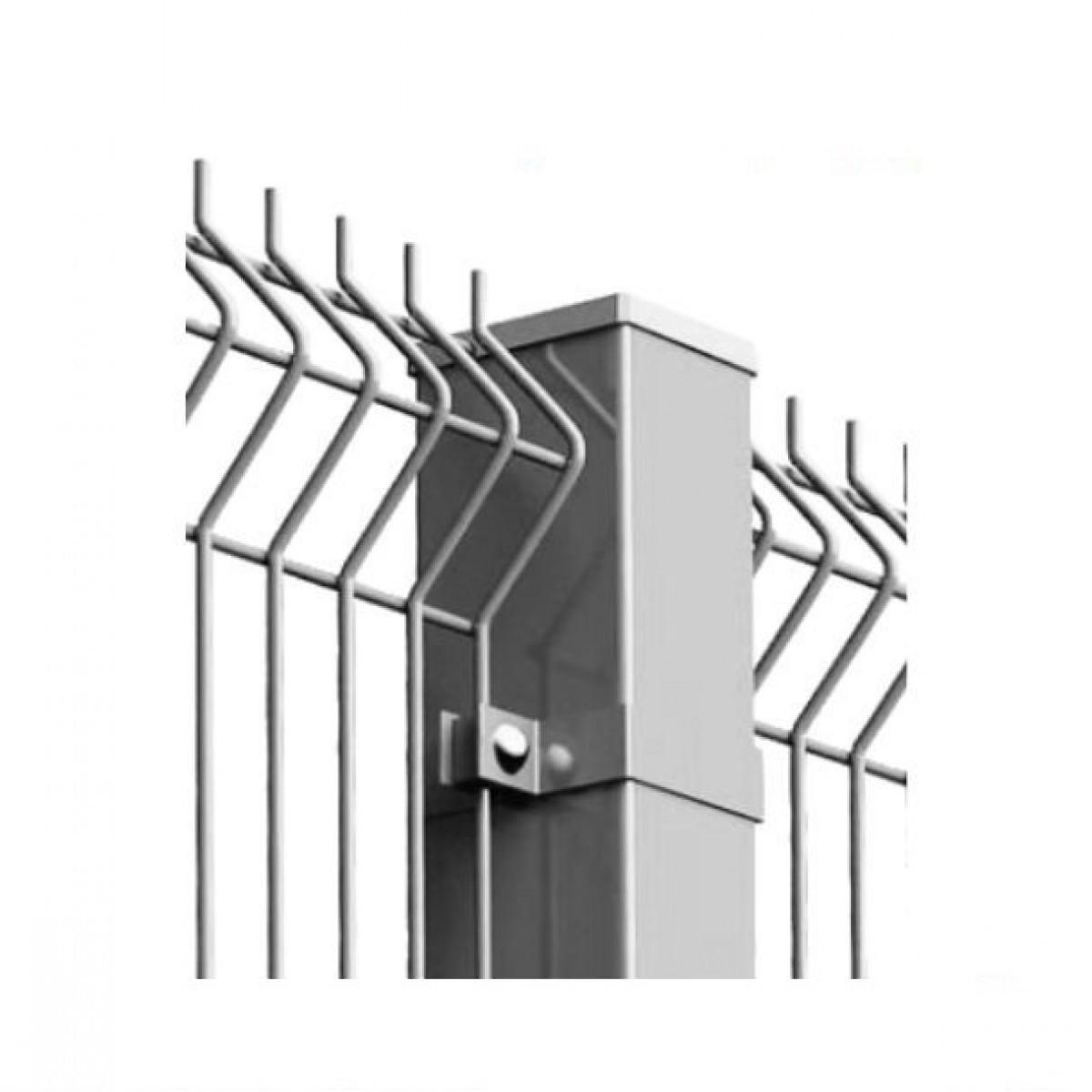 Столб ЗАГРАДА ЭКО оцинкованный 60х40мм/2,25м