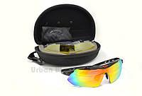 Мужские солнцезащитные велоочки очки, спортивные поляризационные очки со сменными линзами