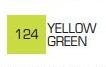 Маркер ZIG 124 Kurecolor Fine & Brush for Manga (2 пера: кисть+т.п) Yellow Green (Желто зеленый)
