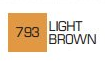 Маркер ZIG 793 Kurecolor Fine & Brush for Manga (2 пера: кисть+т.п) Light Brown (Светлый коричневый)