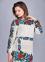 Женская вышиванка туника маки, фото 1