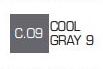 Маркер ZIG С.09 Kurecolor Fine & Brush for Manga (2 пера: кисть+т.п) Cool gray 9 (Прохладный серый 9, фото 2