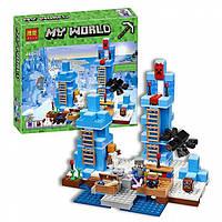 """Конструктор Minecraft Bela 10621 """"Ледяные шипы"""" (аналог Lego Майнкрафт, Minecraft 21131), 460 деталей"""