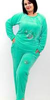 Женская махровая пижама, теплая и стильная, Velsoft-махра, размеры разные. Опт, розница. Украина.