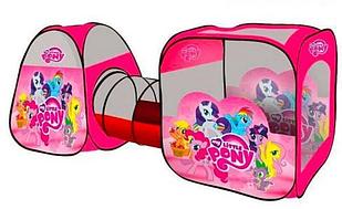 Палатка игровая с туннелем для девочек Пони