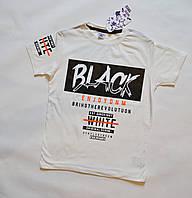 Детские футболки для мальчиков 140-158 размеры белого цвета, фото 1