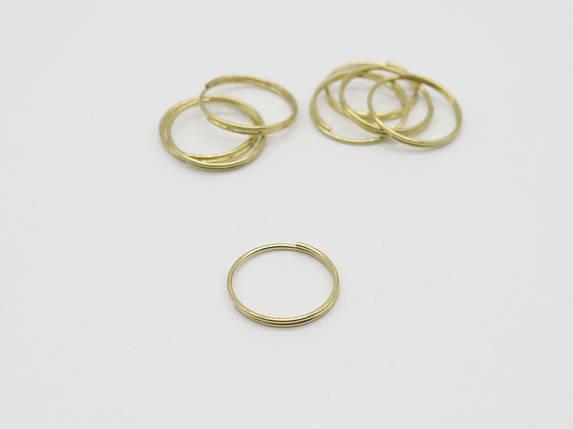 Кільце для ключів. Колір золото. 20мм, фото 2