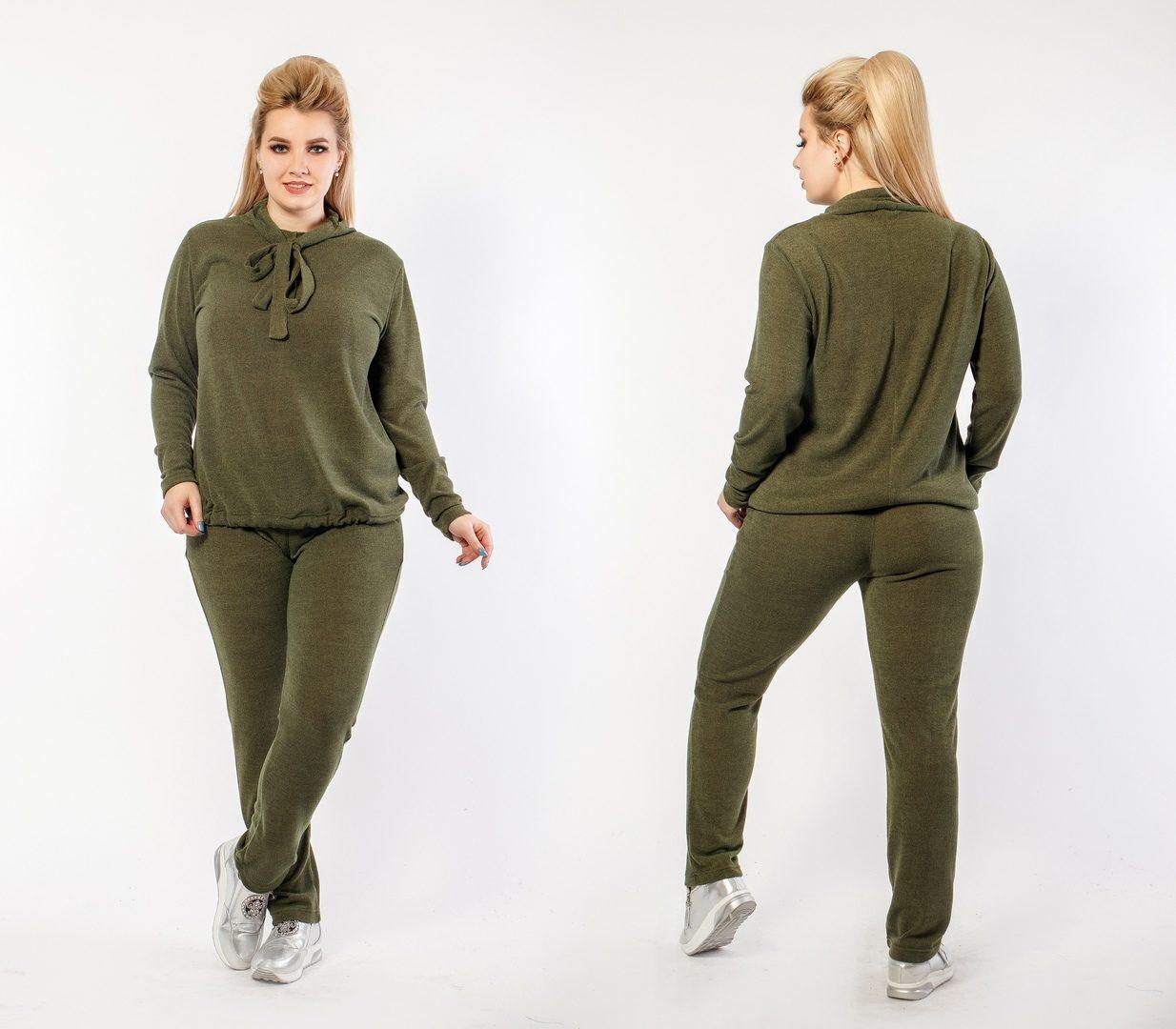 """Стильный женский костюм двойка Кофта+брюки """"Трикотажная вязка"""" 48 размер"""