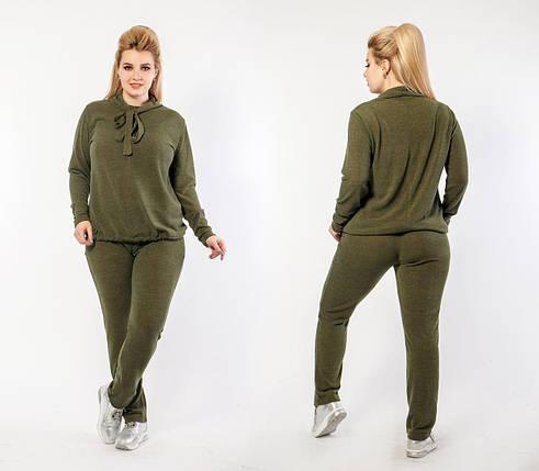 """Стильный женский костюм двойка Кофта+брюки """"Трикотажная вязка"""" 48 размер, фото 2"""
