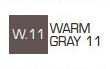 Маркер ZIG W.11 Kurecolor Fine & Brush for Manga (2 пера: кисть+т.п)Warm gray 11 (Теплый серый 11