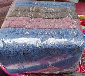 Лицевые махровые полотенца «Темное серебро» ( 8 шт )