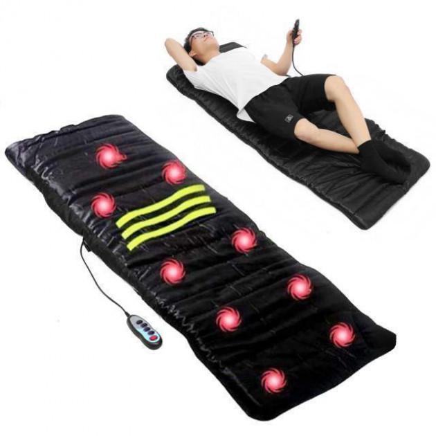 Массажный матрас Massage с подогревом, массажный коврик 9 зон вибрации