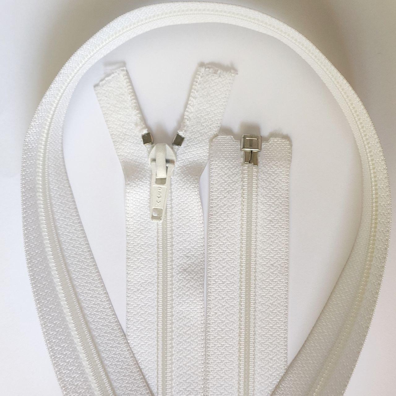 Длинная разъемная спиральная молния PRYM, белая, 120 см