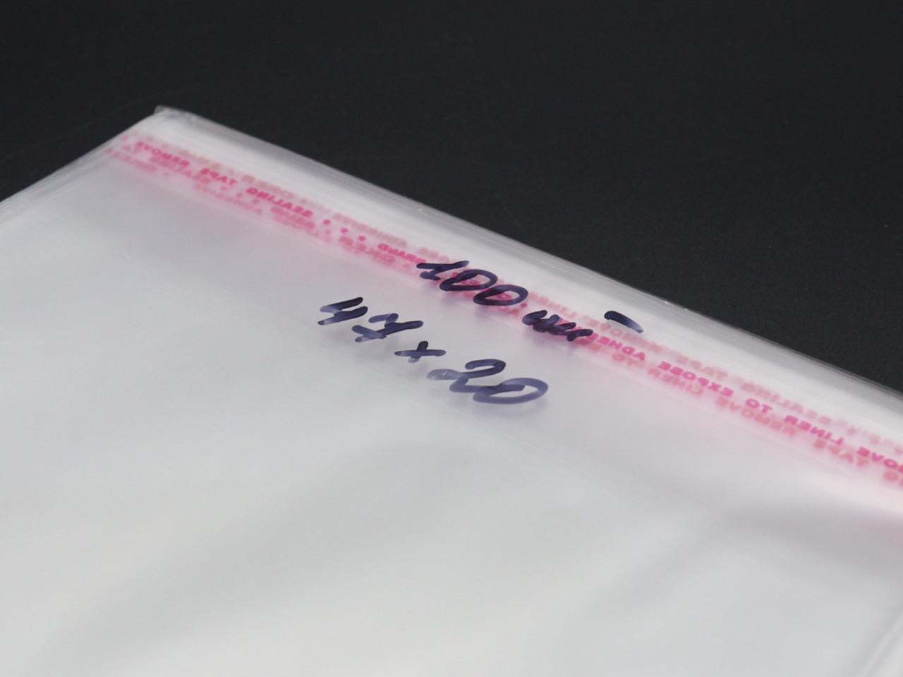 Пакеты полипропиленовые с липкой лентой. 47х20см в закрытом виде 42х20см. 25мкр