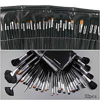 Набор кистей для макияжа 32 штуки в чехле, фото 1
