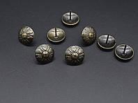 Кнопка металлические декоративные. 16х19мм