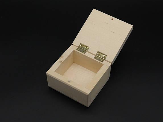 Скринька(заговка) +петлі. 8*8см. Матеріал береза., фото 2