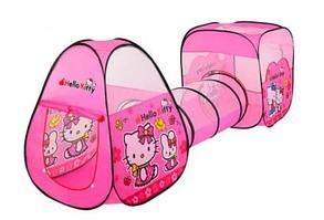Палатка игровая с туннелем для девочек Китти