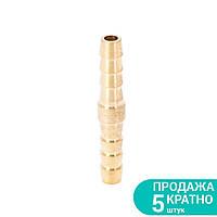 З'єднання для шланга 6мм (латунь) Sigma (7023821)