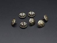 Кнопка металлические декоративные. 16х12мм