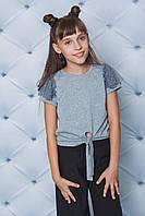 Блуза для девочки трикотажная меланж