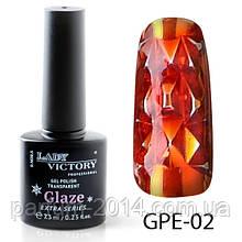 Новинка! Гель-лак на прозрачной основе Lady Victory (ВИТРАЖНЫЙ) GPE-02