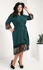 Женское платье-рубашка из супер софта размеры 50,52,54 бутылка