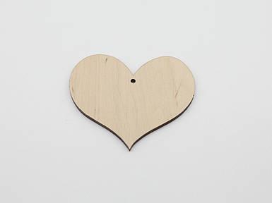 Дерев'яні заготовки з фанери. Серце. 5см