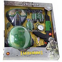Игрушечный набор военного «Спецоперация» с каской, автоматом и аксессуарами 33510-33580