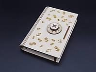 Шкатулка-купюрница из фанеры с кодом. Доллар. 12х17.5см