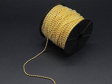 Ланцюжок кулькова на метраж. Золото. 3,2 мм