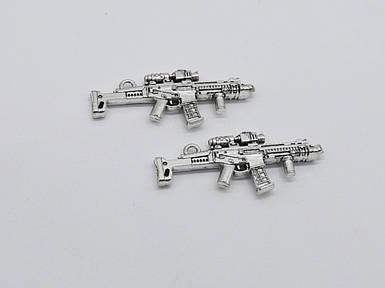 Металеві накладки. Зброя. Колір срібло. 45х20мм