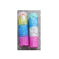 Лизун MK 4292 желейный, баноч.с крышкой 19 см,радуга, 6шт(6 цветов) в дисплее